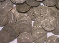 LOT OF 40  1 ROLL  1943 S WARTIME NICKEL SILVER COINS