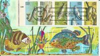 2209A FISH BOOKLET PANE FDC   PASLAY CLASSIC HAND PAINTED CA
