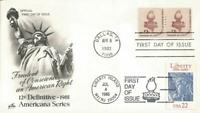1816 STATUE OF LIBERTY TORCH COIL LINE PAIR COMBO FDC   ART