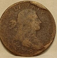 1798  DRAPED BUST LARGE CENT. S-148 TERMINAL DIE STATE