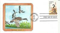 2334 CANADA GOOSE FDC   GEERLINGS HAND PAINTED CACHET   ONLY