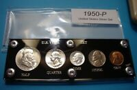 1950 SILVER SET OF U.S. COINS LUSTROUS MINT STATE / BRILLIAN