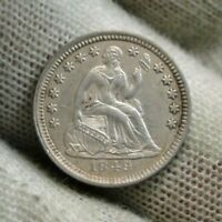 1849 SEATED LIBERTY HALF DIME H10C   COIN, SHIPS FREE 623