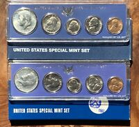 1966 & 1967 US SMS  2 SPECIAL MINT SETS  40  SILVER BEAUTIFU