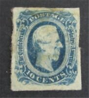 NYSTAMPS US CSA CONFEDERATE STAMP  12 MINT OG H        S24Y8