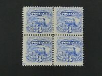 NYSTAMPS US STAMP  114 MINT OG H $1500 RARE BLOCK WITH GUIDE