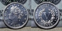 1905 PROOF LIBERTY V NICKEL 5C PROOF CHOICE UNCIRCULATED