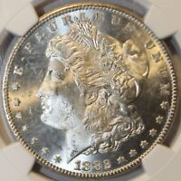 1882 CC MORGAN SILVER DOLLAR MS63 NGC CERTIFIED AND GRADED E