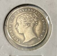 1847 GREAT BRITAIN  3 PENCE   HIGH GRADE   LOW MINTAGE