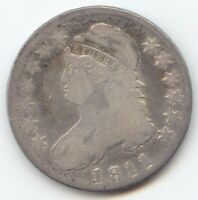 1811 CAPPED BUST HALF DOLLAR VG DETAILS TRUE AUCTION NO RESE