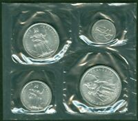 1965 FRENCH POLYNESIA. COIN SET WITH 4 COINS.