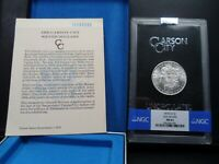 1878-CC MINT STATE 63 GSA HOARD MORGAN SILVER DOLLAR NGC CERTIFIED WITH BOX/COA - WHITE