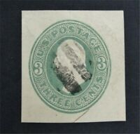 NYSTAMPS US CUT SQUARE STAMP  U169 USED $125    O22Y900