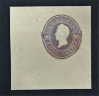 NYSTAMPS US CUT SQUARE STAMP  U347 MH    O22Y910