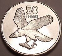 GEM UNC BOTSWANA 1998 50 THEBE AFRICAN EAGLE WITH FISH IN CLAWS