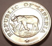 PROOF LIBERIA 1968 5 CENTS ONLY 14 396 MINTED ELEPHANT COIN FREE SHIP