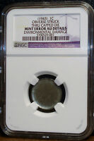 NGC GRADED SEE IT TO BELIEVE IT 1943 STEEL CENT CAPPED DIE OBVERSE AU DETAILS