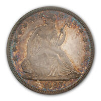 1867 50C LIBERTY SEATED HALF DOLLAR PCGS PR66 CAC