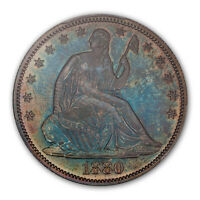 1880 50C LIBERTY SEATED HALF DOLLAR PCGS PR65