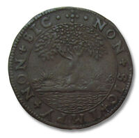 SPANISH NETHERLANDS COPPER JETON 1616: DUTCH SUCCESSES IN THE EAST & WEST INDIES