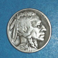1924 S  BUFFALO NICKEL  /   FOUR DIGIT DATE    VF    HIGHER GRADE   1741
