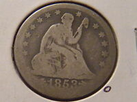 1853 O SEATED LIBERTY QUARTER ARROWS AND RAYS