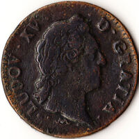 1771 N FRANCE 1 SOL COIN LOUIS XV MONTPELLIER MINT KM545.9
