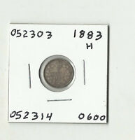 1883 H CANADIAN FIVE CENTS SILVER    052303