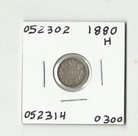 1880 H CANADIAN FIVE CENTS SILVER    052302