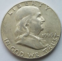 1963 D 50C FRANKLIN HALF DOLLAR