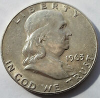1963 D 50C FRANKLIN HALF DOLLAR                                             F03