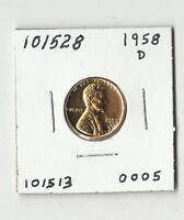 1958 D LINCOLN WHEAT CENT    101528   RED
