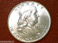 U.S. COLLECTOR'S COIN1949 P FRANKLIN HALF DOLLAR CHOICE BU/UNC COIN AC84