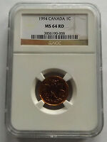 1994 CANADA ONE CENT NGC MS64 RD COPPER PENNY! 60 COINS TOTAL NGC POP!