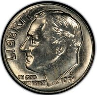 1971 D 10C ROOSEVELT DIME CLAD MINT STATE UNCIRCULATED HIGH QUALITY US COING22