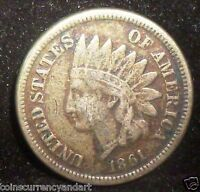 US 1861 SMALL CENT   INDIAN HEAD