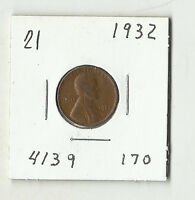 1932 LINCOLN WHEAT CENT    21