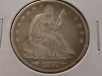 1874 SEATED LIBERTY HALF DOLLAR ARROWS AND MOTTO
