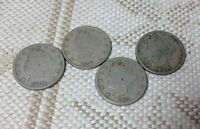 LOT OF FOUR LIBERTY V NICKELS 1906, 1910, 1911,1912