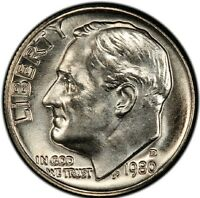 1980 D 10C ROOSEVELT DIME CLAD MINT STATE UNCIRCULATED HIGH QUALITY US COING22