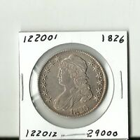 VERY NICE 1826 CAPPED BUST HALF DOLLAR    122001