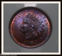 TONED 1903   P INDIAN HEAD CENT BU