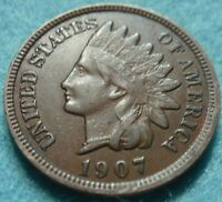 1907 XF AU FULL LIBERTY INDIAN HEAD GREAT DETAILS  LOW SHIPPING.
