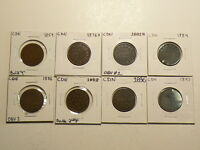 CANADA LOT OF 8 VICTORIA LARGE CENTS 1859 TO 1897   3616