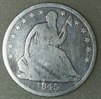 1845 O SEATED LIBERTY HALF DOLLAR