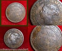 CANADA 1891 SD,SLSMALL LEAVES,SMALL DATE ONE CENT