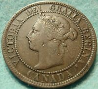 1897 XF CANADA LARGE CENT VICTORIA COIN NO RES CANADIAN