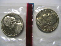 1980 P&D JEFFERSON NICKELS IN THEIR ORIGINAL MINT CELLO XF