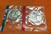 1972 PD JEFFERSON NICKEL UNCIRCULATED MINT CELLO 2 COINS