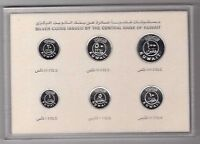 KUWAIT   SILVER PROOF 6 DIF COINS SET:1   100 FILS 1987 YEAR KM9A 14A PS4